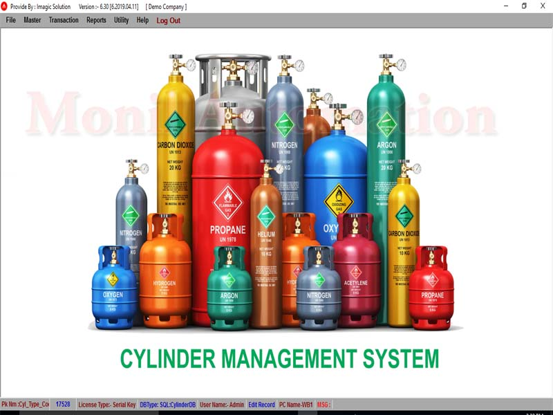 Cylinder Tracking Software